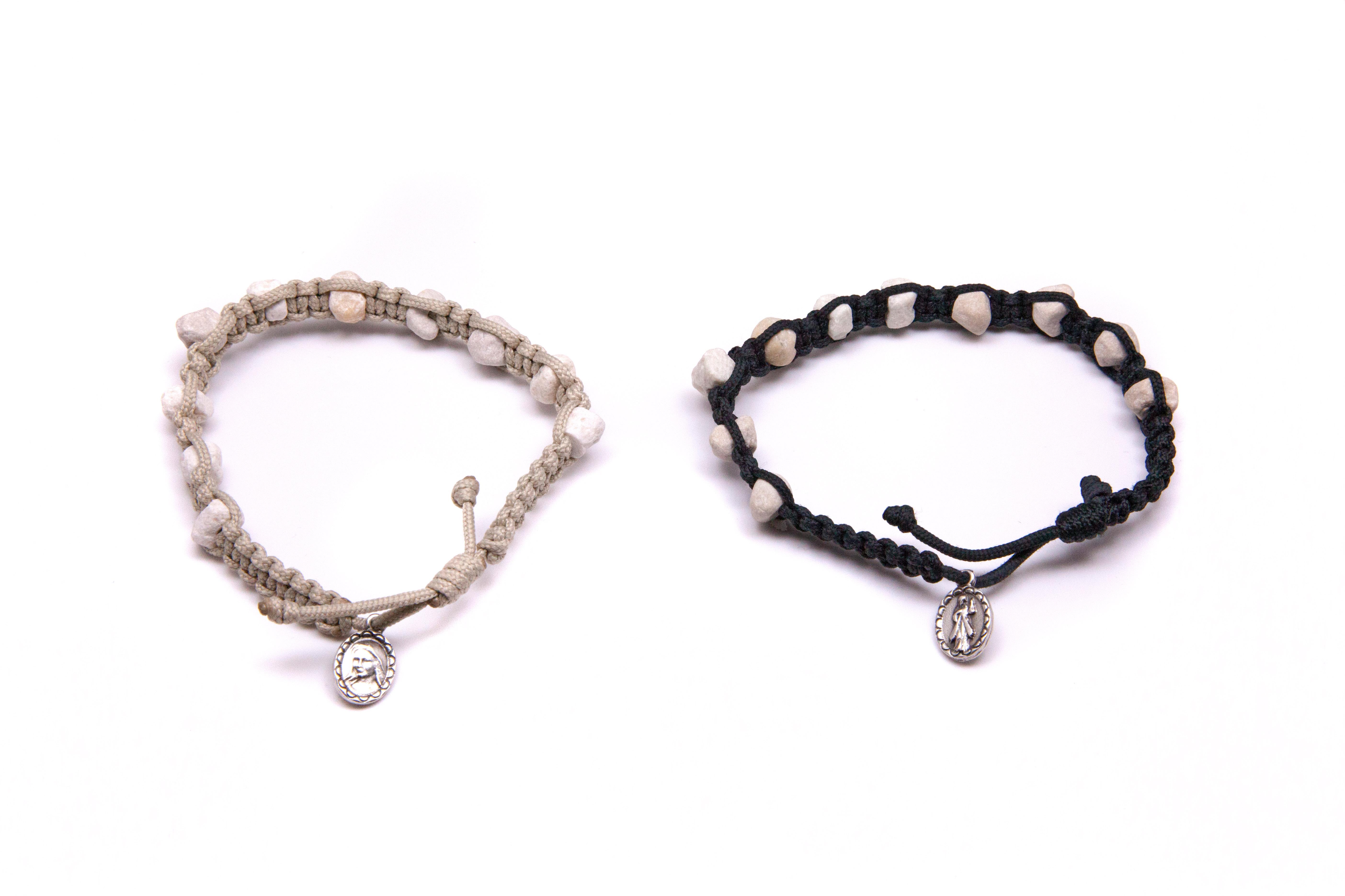 Medjugorje Stone Rosary Bracelet