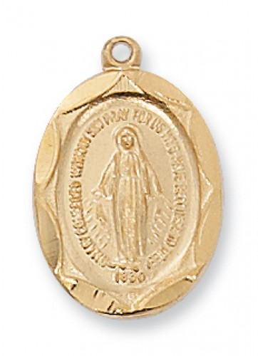 """Gold over Silver Miraculous with 18"""" Chain"""