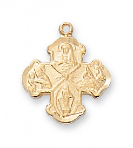 """Gold Over Silver Baby 4 Way 13"""" Chain/W"""""""