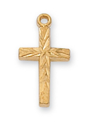"Gold over Silver Baby Cross 13"" Ch&Bt"