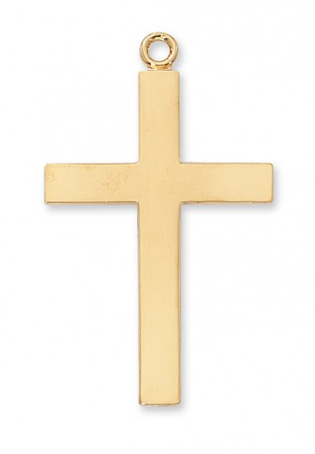"Gold over Silver Lords Prayer Cross 24"" chain"""