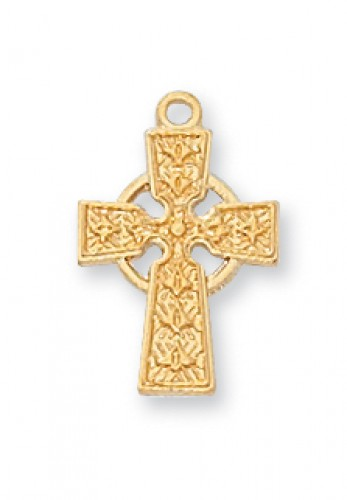 "Gold over Silver Cross with 16"" Chain"