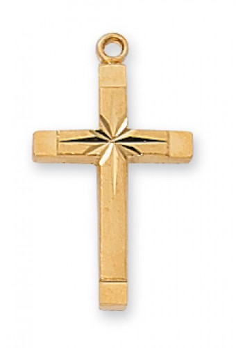 Gold over Silver Eng Cross 18 Ch""