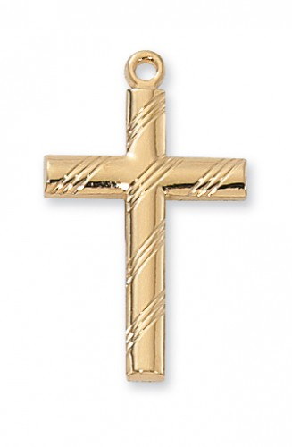 """Gold over Silver Cross with 20"""" Chain"""