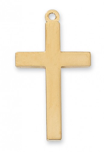 Gold over Silver Block Cross 20 Cha&Bx""