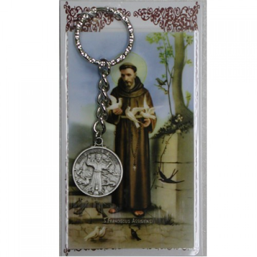 St Francis Keyring/Prayer Card