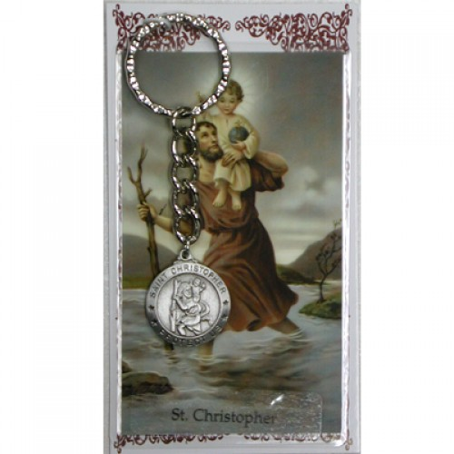 St. Christopher Keyring/Prayer Card
