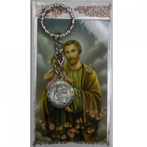 St Joseph Keyring/Prayer Card