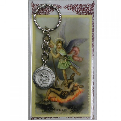 St Michael Keyring/Prayer Card