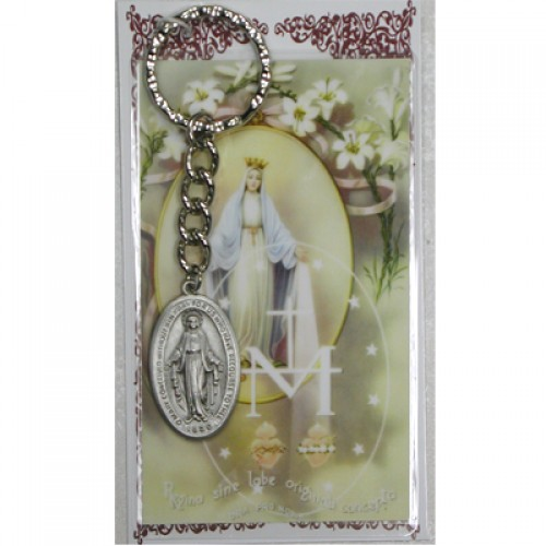 Miraculous Keyring/Prayer Card