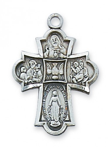 """Sterling Silver 4-Way with 18"""" Chain"""
