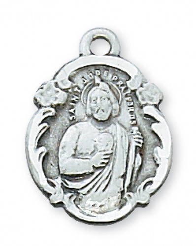 "Sterling Silver St Jude with 18"" Chain"