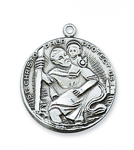 Pewter St Christopher Medal