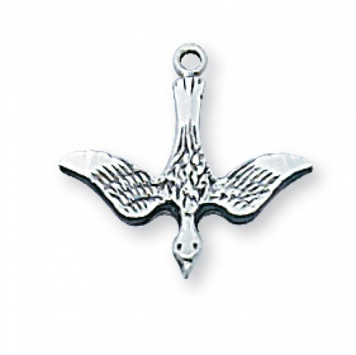 Sterling Silver Holy Spirit 18Sr with Chain""