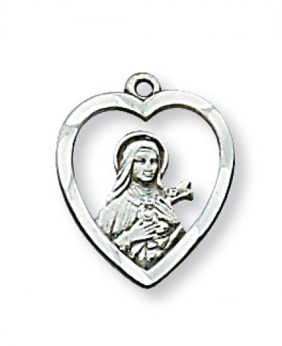 "Sterling Silver St Therese with 18"" Chain"