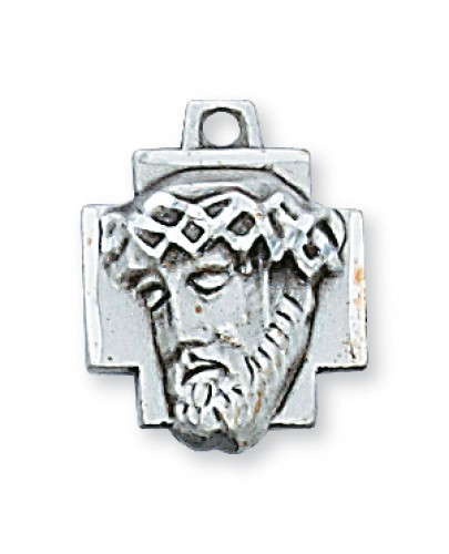 "Sterling Silver Ecce Homo with 18"" Chain"