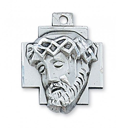 "Sterling Silver Ecce Homo with 24"" Chain"