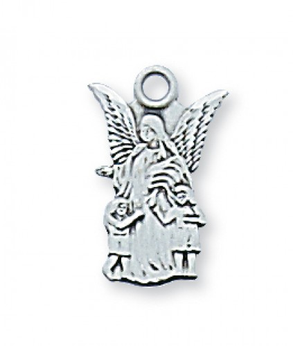 "Sterling Silver Guard Angel with 16"" Chain"