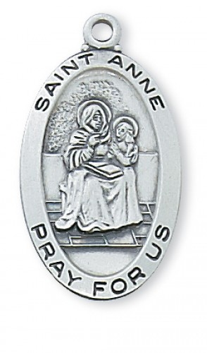 Pewter St Anne Medal With