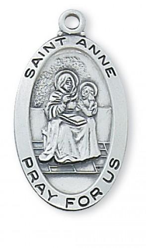 Sterling Silver St. Anne Medal