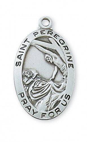 "Sterling Silver St Peregrine with 18"" Chain"