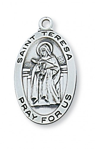 Sterling Silver St Teresa Avila with Chain