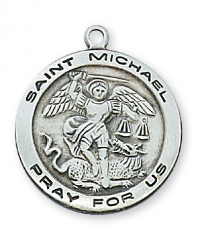 Sterling Silver St. Michael with Chain