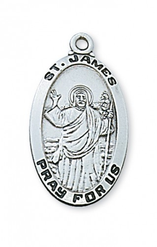 Pewter St James Medal With