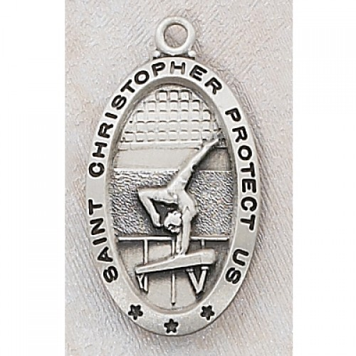 "Sterling Silver Gymnastics with 18"" Chain"