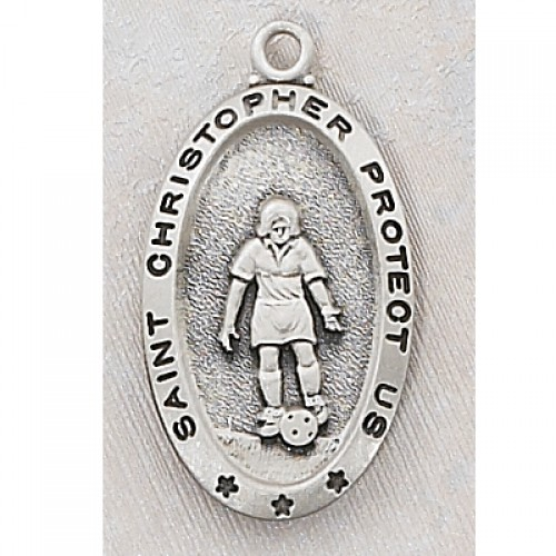 Sterling Silver Soccer Medal / Chain & Box