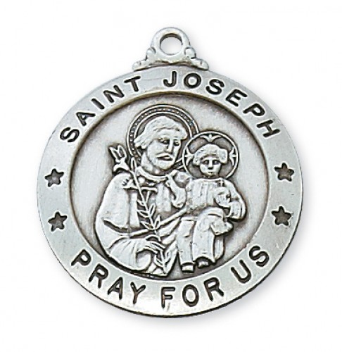 """Sterling Silver St. Joseph with 24"""" Chain"""