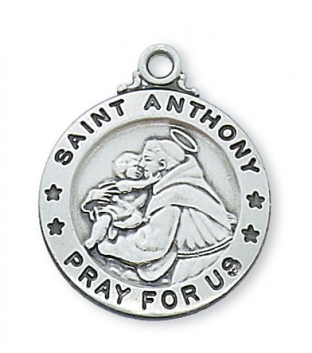 "Sterling Silver St. Anthony with 20"" Chain"