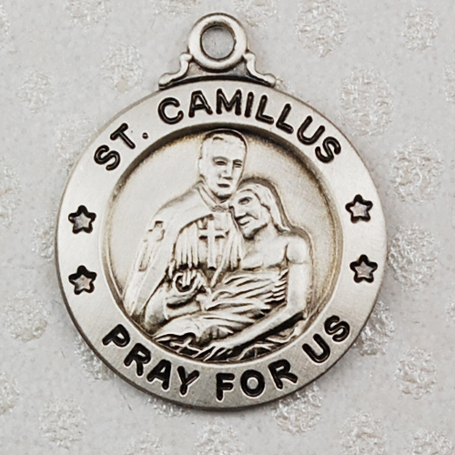 """Sterling Silver St Camilluswith 20"""" Chain"""