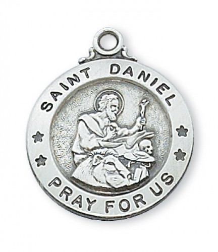 "Sterling Silver St. Daniel with 20"" Chain"