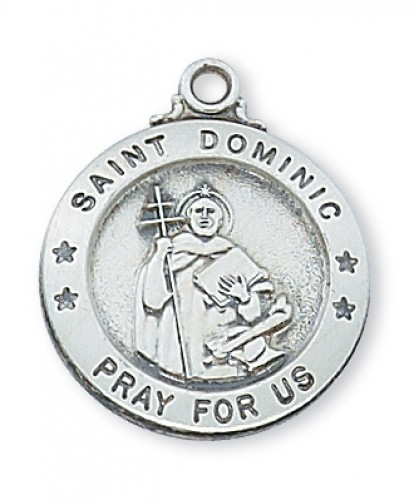 "Sterling Silver St. Dominic 20"" Chain and Box"