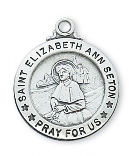 "Sterling Silver St Eliz Ann Seton with 20"" Chain"