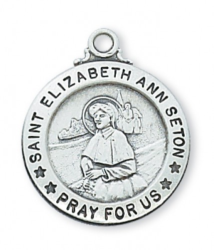 "Sterling Silver St Eliz Ann Seton with 20"" Chain"