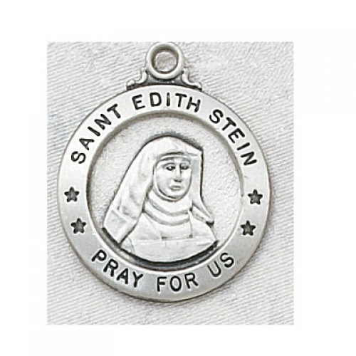 Sterling Silver St. Edith Stein 20Chain and Box