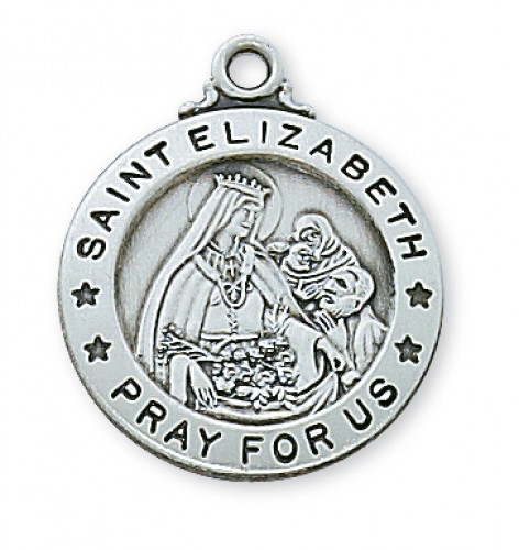 "Sterling Silver St Elizabeth with 20"" Chain"