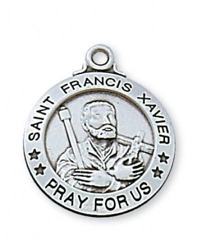 "Sterling Silver St Francis Xavier with 20"" Chain"
