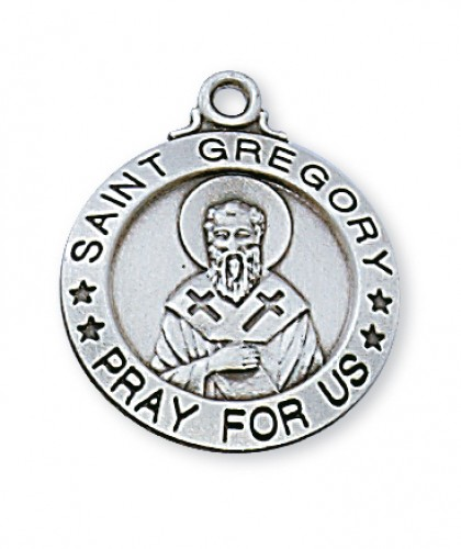 "Sterling Silver St. Gregory 20"" Chain & Box"