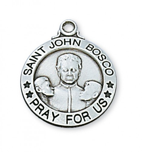 "Sterling Silver St. John Bosco with 20"" Chain"