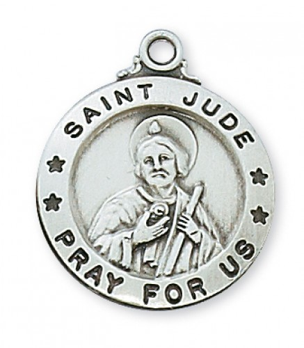"Sterling Silver St. Jude with 20"" Chain"