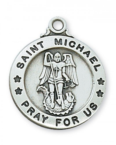 Pewter St Michael Medal With
