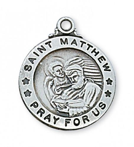 Sterling Silver St. Matthew Evangelist