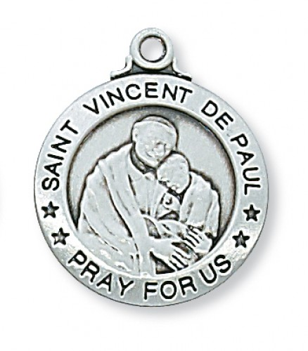 Sterling Silver St. Vincent De Paul