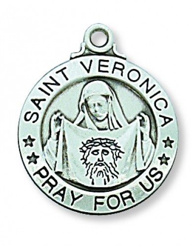 "Sterling Silver St. Veronica 20"" Chain&Box"