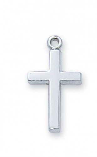 "Sterling Silver Cross 16"" Ch"