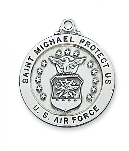 """Sterling Silver Air Force Serv Md 24 Ch"""""""