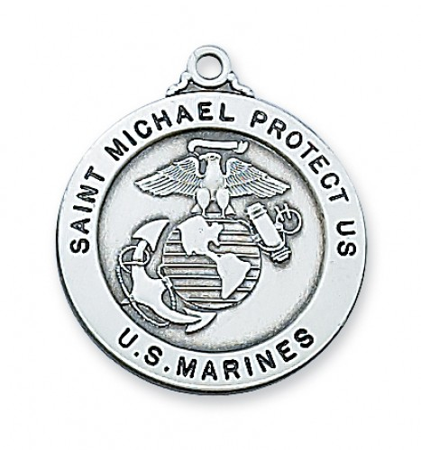 """Sterling Silver Marine Service Md with 24"""" Chain"""